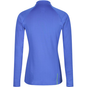 inov-8 Train Elite Mid LS Zip Langarmshirt Damen blue